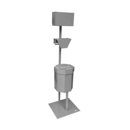 Abfallbehälter, 20 Liter, mit Falthandtuchspender und 1x Beutelhalter für den Innenbereich