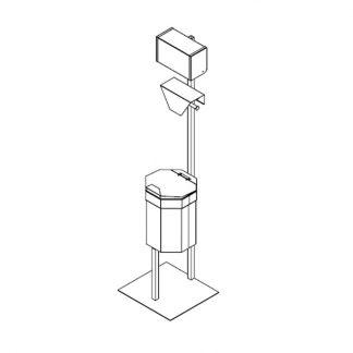 Abfallbehälter mit Falthandtuchspender - 1x Beutelhalter