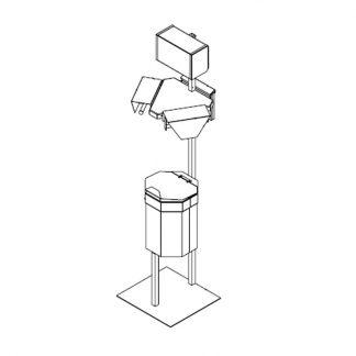 Abfallbehälter mit Falthandtuchspender - 2x Beutelhalter
