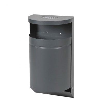 Abfallbehälter für den Außenbereich zur Wandmontage