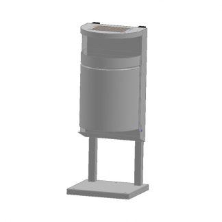 Abfallbehälter für den Außenbereich zur Bodenmontage
