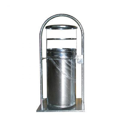 Abfallbehälter für den Außenbereich zur Bodenmontage, abschließbar