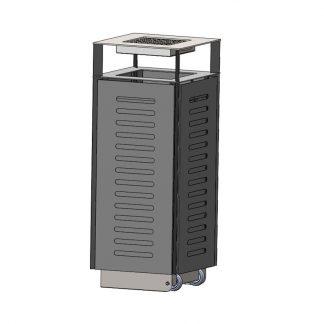 Abfallbehälter für den Außenbereich, rollbar