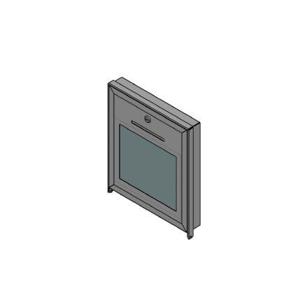 Box für Pfandspende mit Klarsichtfenster, zur Wandmontage abschließbar (1x Schloss)