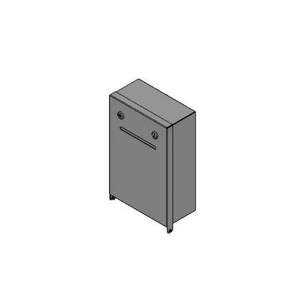 Box für Pfandspende geschlossen (ohne Fenster), zur Wandmontage, abschließbar (2x unterschiedliche Schlösser)