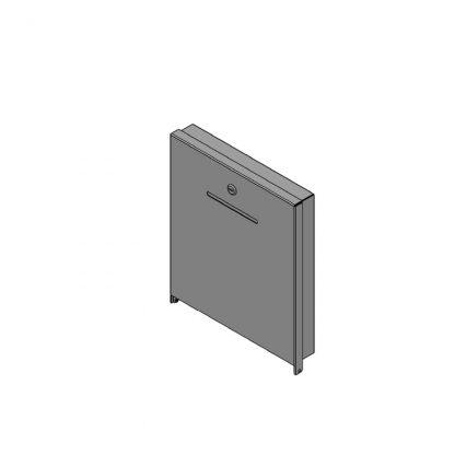 Box für Pfandspende geschlossen (ohne Fenster), zur Wandmontage, abschließbar (1x Schloss) Zubehör Getränkeabteilung - Pfandspendeboxen