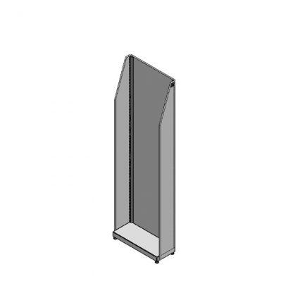Beistellregal, 500mm Breite, oben schräg