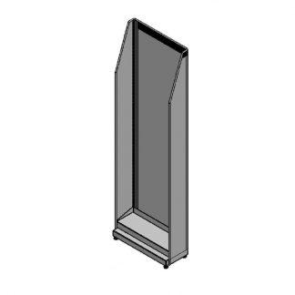 Beistellregal 500mm Breite, oben schräg, mit 1x Einhängeboden