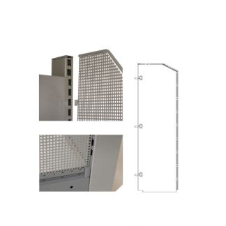 Gondelkopfseitenwand - 1200 x 200 inkl. Schräge für Linde Regale