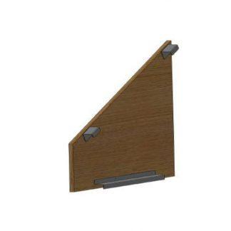 Seitenverkleidung für OG 1250/1254, links, Holzfarbe: Driftwood