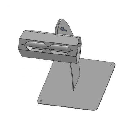 Stativ (niedrig) mit Bodenplatte und 1x Beutelabroller mit Abreißlasche (OT 2511)