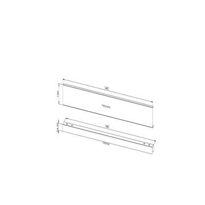 Gestell zur Preisauszeichnung (stabile Ausführung) Verbindungselement Paar 1500 mm (Standardmaß)