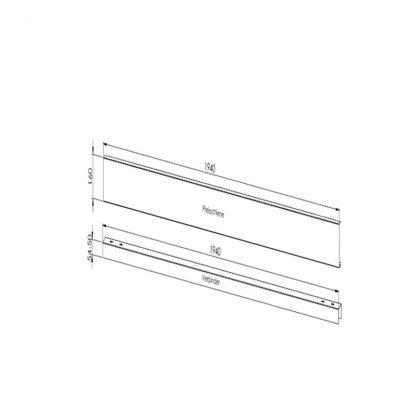 Gestell zur Preisauszeichnung (stabile Ausführung) Verbindungselement Paar 2000 mm (Standardmaß)