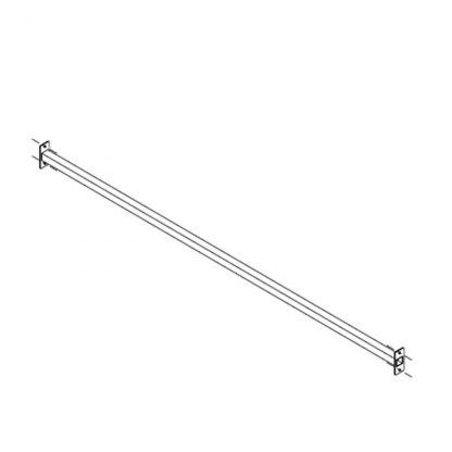 Gestell zur Preisauszeichnung Längsverstrebung 2500 mm (low-Version)