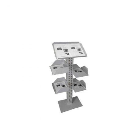 Prospektständer inklusive 4 seitlichen Auflagekörbchen DIN A4