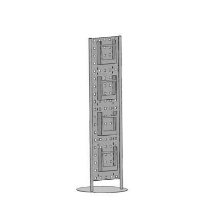 Prospektsäule (gelocht) inklusive 4 Einhänger DIN A4 hochkant
