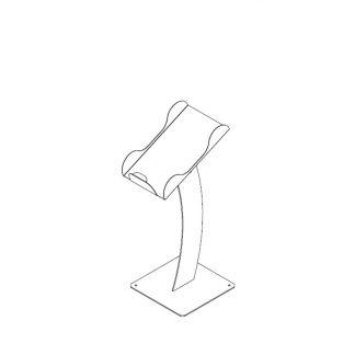 Papiertütenablage mit Plattenstativ für O+G Schräge