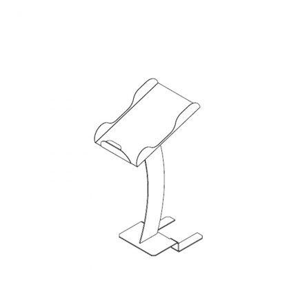 Papiertütenablage mit Gabel-/Lattenroststativ für O+G Schräge