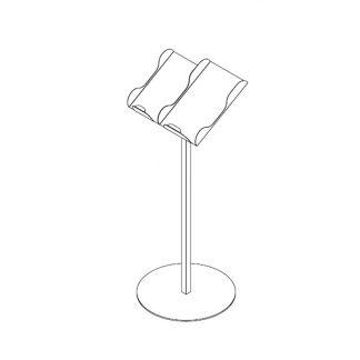 Papiertütenablage mit Standstativ inkl. 2 Wannen