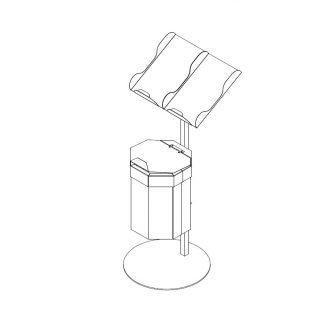Papiertütenablage mit 20 Liter Abfallbehälter