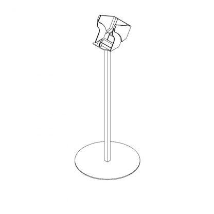 Bodenstativ mit 1x Beutelabroller-Halter für große Beuteltrollen