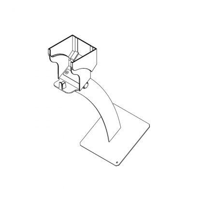 Stativ mit Bodenplatte für O+G-Schrägen für große Beutelrollen