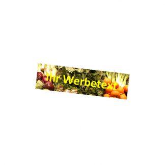 Magnetfolien-Werbeträger als Zubehör für die Rückenlehne der Sitzbank BK 1612