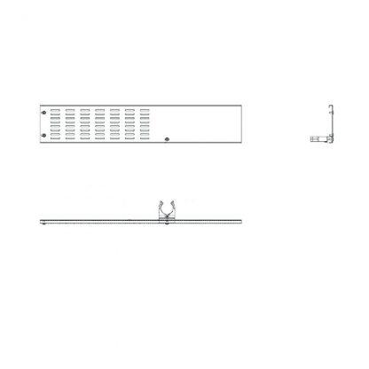 Rammschutz Seitenleiste Wandanschluss rechts für 250 cm AHT-Truhen