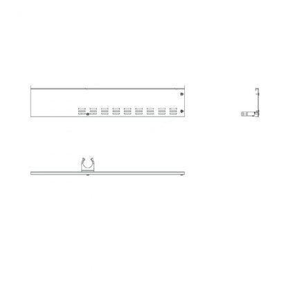 Rammschutz Seitenleiste Wandanschluss links für 250 cm AHT-Truhen
