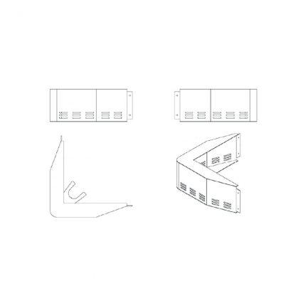 Rammschutz linke/rechte Ecke Warendurchgang für AHT-Truhen