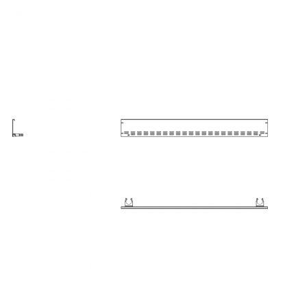 Rammschutz Stirnleiste Mitte für 185 cm AHT-Stirntruhen