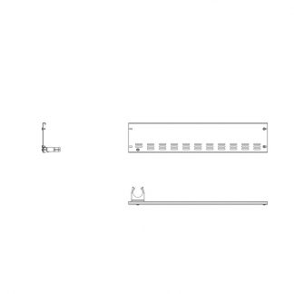 Rammschutz Stirnleiste links für 185 cm AHT-Stirntruhen