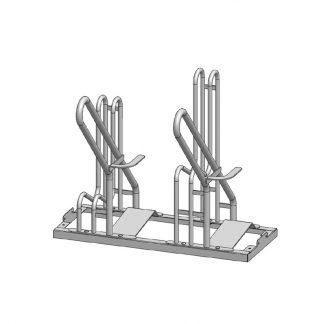 Fahrradständer mit E-Rollerständer mit je 2 Stellplätzen, 2er Modul - endlos erweiterbar