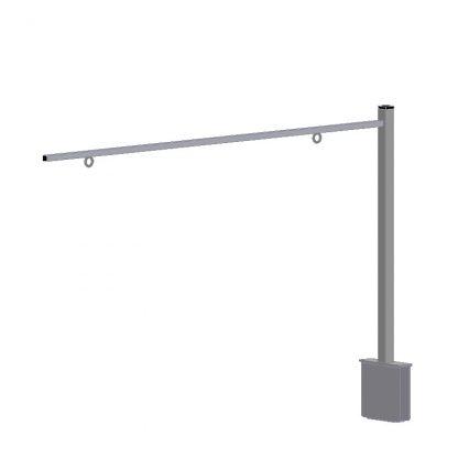 Gondelkopfgalgen für Aufnahme 110 x 30 mm (Storebest Regal) für Warengruppenschild in Regal-Laufrichtung
