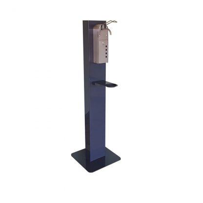 Ständer mit manuellem Hygienespender inklusive 1x Leerkartusche für Hygieneflüssigkeit