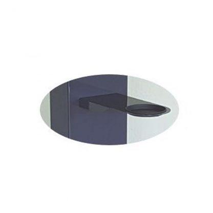 Zubehör: Halterung mit Auffangschale Material: Stahlblech, pulverbeschichtet (Schale aus Kunststoff)