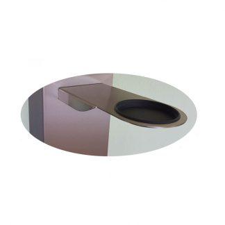 Zubehör: Halterung mit Auffangschale Material: Edelstahl (Schale aus Kunststoff)