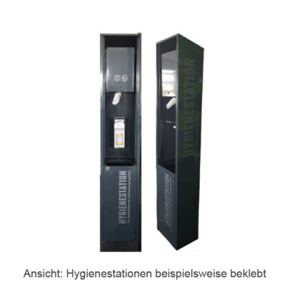 Hygienestationen beklebt